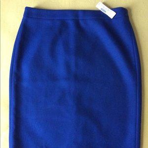 J.Crew Royal Blue Pencil Skirt 10